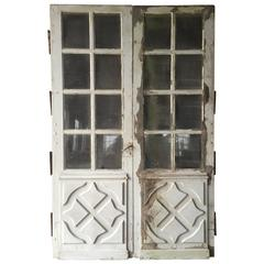 Chateaux Passage Doors 18th Century, Handcrafted French Wood Oak, France