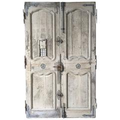 French Chateaux Entrance Doors and Fittings, Original, 18th Century, France
