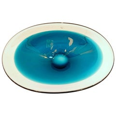 """Glass Bowl """"Coquille"""" by Flygsfors, Sweden"""