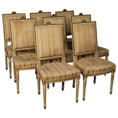 20th Century Group of Eight Italian Lacquered Chairs