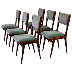 Set of Six Chairs in the Style of Carlo di Carli