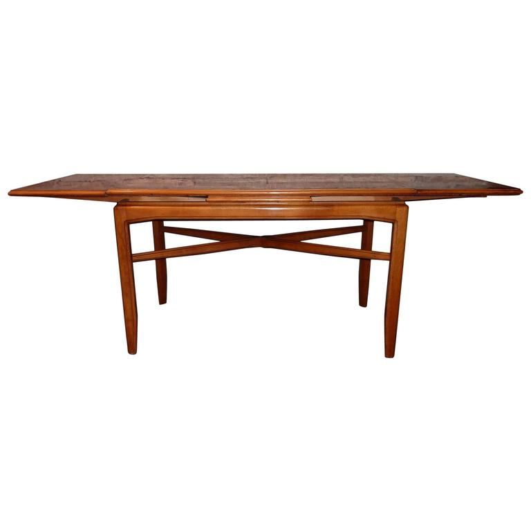 Extendable Glass Coffee Tables: Swedish Mid-Century Coffee Table With Extendable Top For