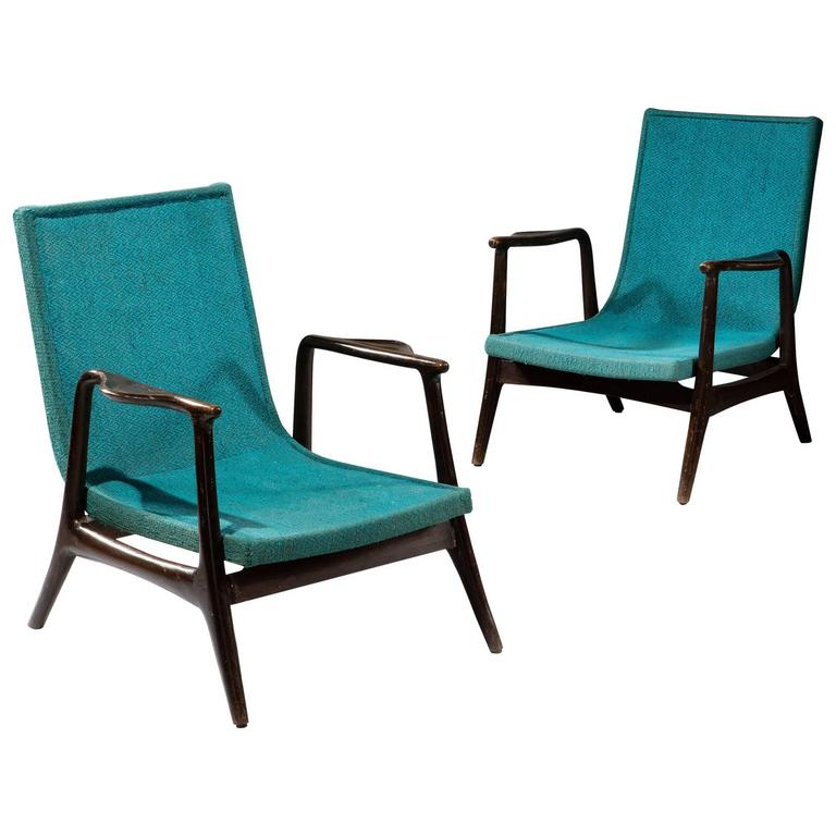 Pair of mid 20th century lounge chairs for sale at 1stdibs for Aalto chaise lounge