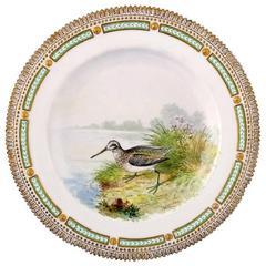Royal Copenhagen Flora Danica / Fauna Danica Dinner Plate with Motive of a Bird