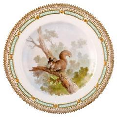 Royal Copenhagen Flora Danica/Fauna Danica Dinner Plate with a Squirrel