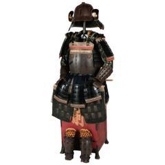 18th Century Yoroi Japanese Decorative Samurai Armour with Original Box