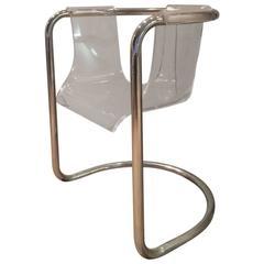 Fabio Lenci Lucite Chair by Formes Nouvelles, Paris
