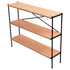 Small Wrought Iron Mid-Century Shelf in the Manner of Paul McCobb