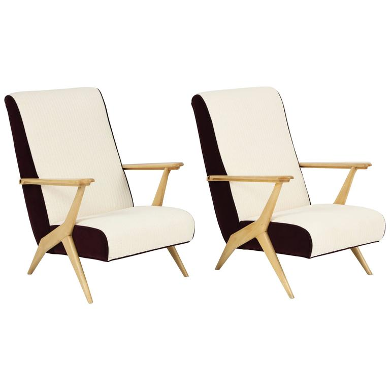 Carlo Mollino Attributed Armchairs 1