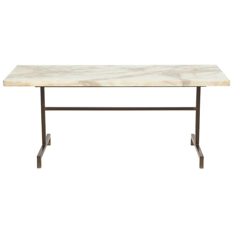 Elegant Bronze And Marble Side Table For Sale At 1stdibs