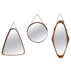 Set of Three Wood Italian Mirrors