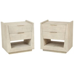 Shagreen Side Tables or Nightstands