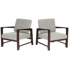 Pair of Walnut Armchairs by Harvey Probber