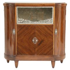 Art Deco Mahogany Bronze and Glass Vitrine by Majorelle