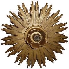 Wooden Starburst Sconce or Flush Mount Light