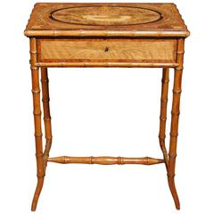 Antique Regency Ladies Work Box Table Brighton Pavillion