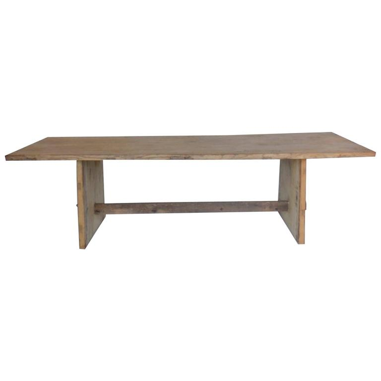 Japanese Naturally Bleached Elmwood Trestle Table at 1stdibs : 6093223l from www.1stdibs.com size 768 x 768 jpeg 11kB