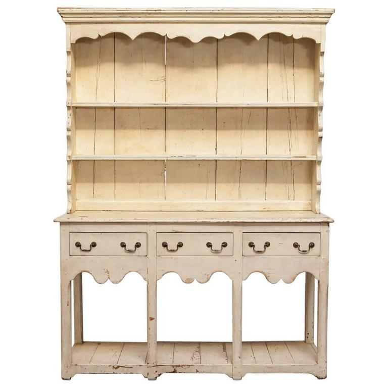 English Oak Welsh Dresser with Pot Board and Rack