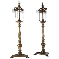 Sterling Bronze Co. Table Lamps, circa 1910