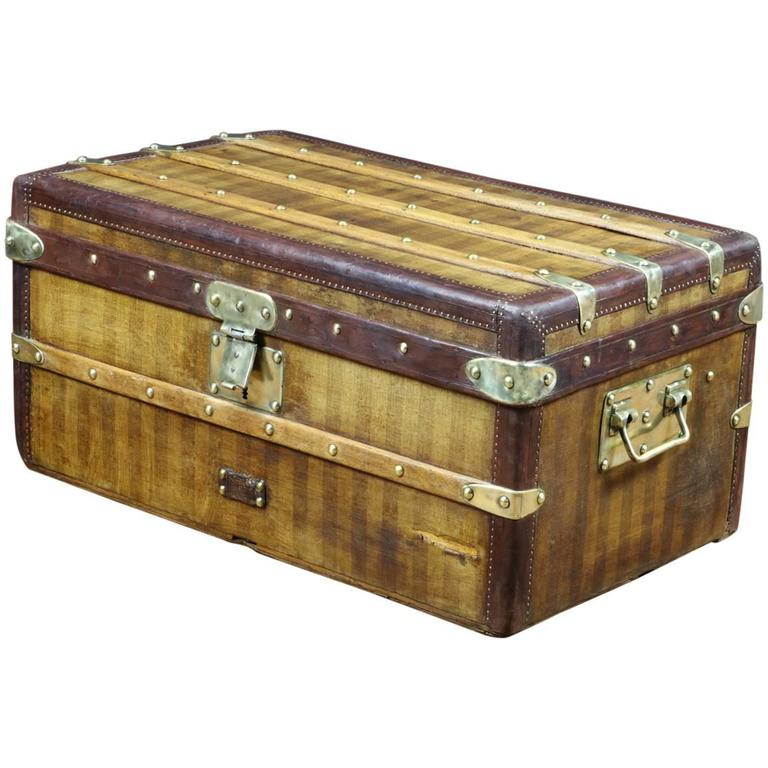1870s Louis Vuitton Stripped Trunk