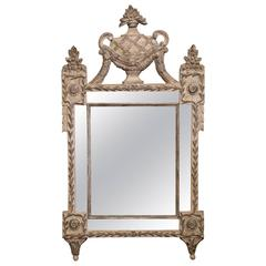 20th Century Italian Hand-Carved Two-Tone Painted Mirror