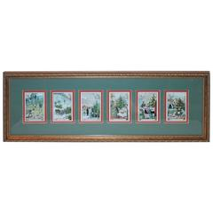 """Late 19th Century French """"Liebig's Extract of Meat Company"""" Framed Trade Sign"""