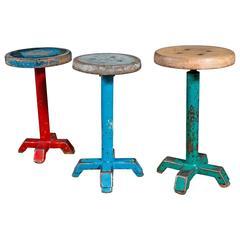 Vintage Painted Belgian Stools