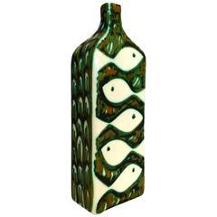 Alessio Tasca Raymor Ceramic Vase Signed, Italy, 1960s