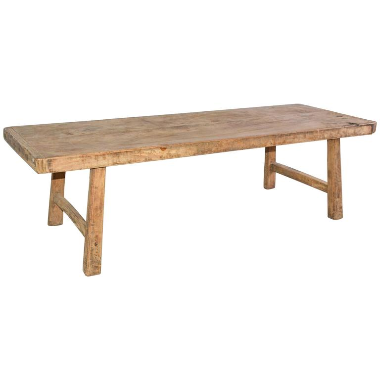 Rustic Teak Coffee Table At 1stdibs