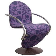 1973, Verner Panton for Rosenthal, Side Chair Including Original Panton Fabric