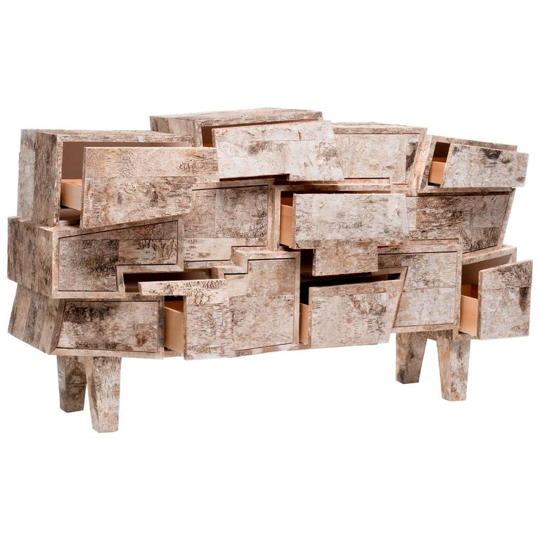 Unique Birchwood Chest of Drawers, Werner Neumann