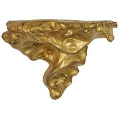Antoni Gaudí Art Nouveau Gold Leaf Giltwood Wall Console