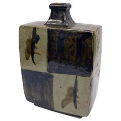 20th Century Japanese Earthenware Bottle