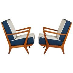 Rare Pair of Armchairs Attributed to Gio Ponti, circa 1950