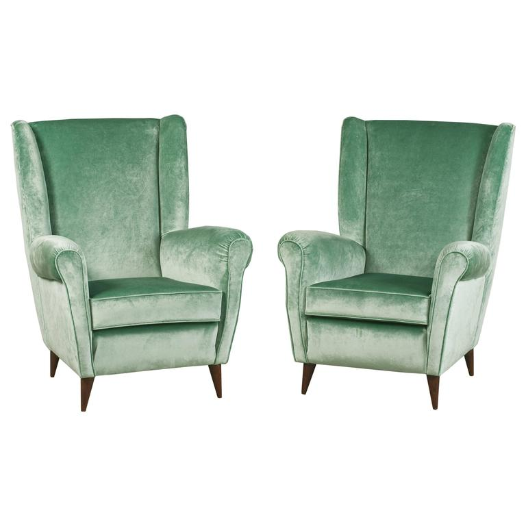 Glamorous Armchairs by Gio Ponti For Sale