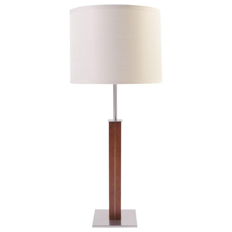 Walnut and Chrome Lamp by Nessen Studios