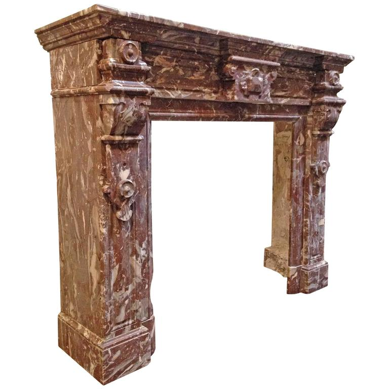 antique red marble mantel for sale at 1stdibs