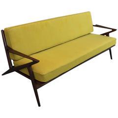 Mid-Century Modern Sculptural Poul Jensen Z Sofa