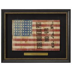Grand Army of the Republic Commemorative 48-Star Flag, circa Early 20th Century