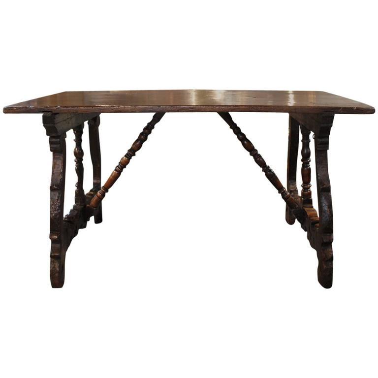 Outstanding 17th Century Italian Walnut Table