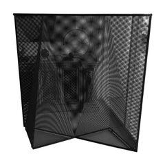 Mario Botta Geometric Nila Rosa Metal Screen for Alias