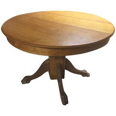 Late 19th Century American Oak Dining Table Extendable