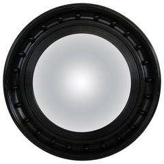 19th Century Regency Style Ebonized Convex Mirror