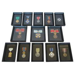 Collection of 13 Framed Medals