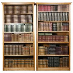 Leather Bound Library of Books