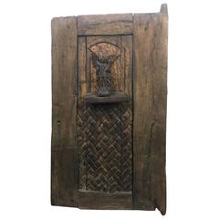 Unique, Rustic Carved Angel Door
