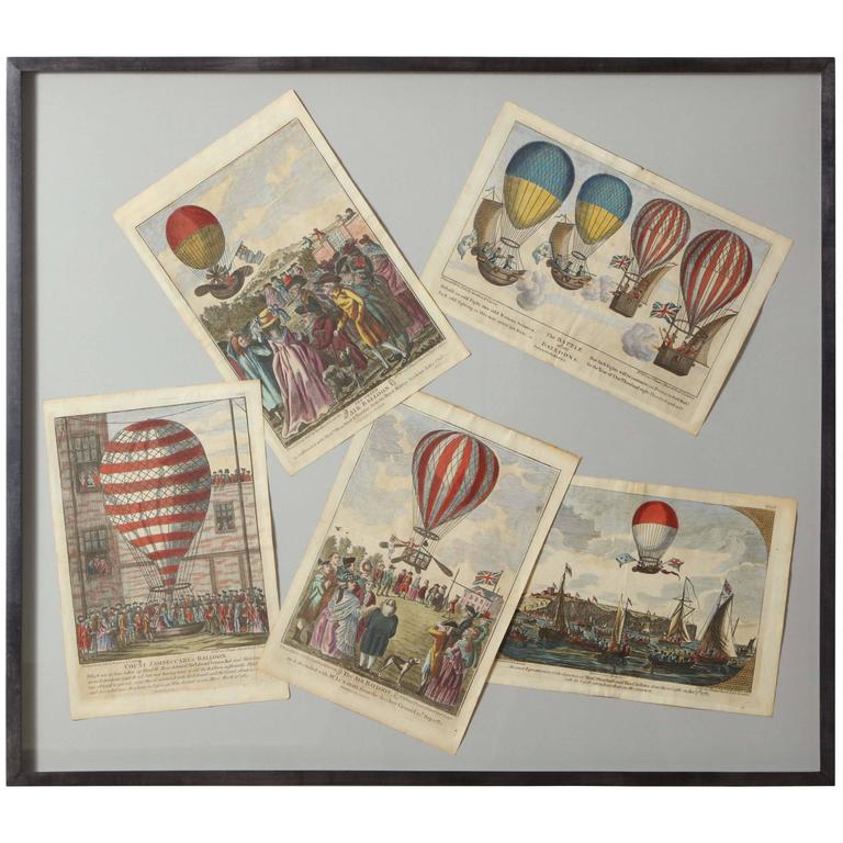 Early 19th Century Balloon Engravings 1