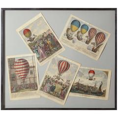 Early 19th Century Balloon Engravings
