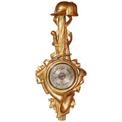 Fine French Carved Giltwood Barometer