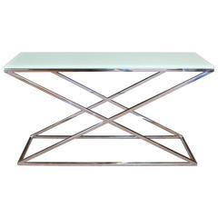 Modern Eicholtz Criss Cross Console Table